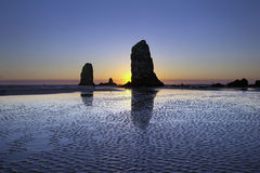Haystack Needles Rocks at Cannon Beach Stock Photos
