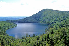 Haystack Pond. From Haystack Mountain overlook, Wilmington, Vermont Green Mountain National Forest royalty free stock photography