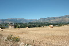 Haystack in Pyrenees orientales ,France Stock Photography