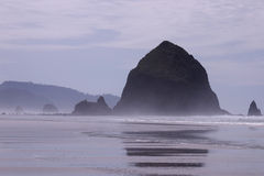 Haystack Rock Royalty Free Stock Photo