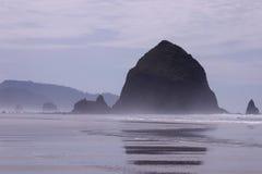 Haystack Rock. Cannon Beach Oregon Royalty Free Stock Photo