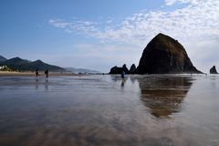 Haystack Rock at Cannon Beach Royalty Free Stock Image