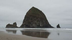 Haystack Rock, in Cannon Beach, Oregon. Royalty Free Stock Photo