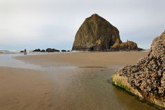 Haystack Rock, Cannon Beach, Oregon, USA Royalty Free Stock Images
