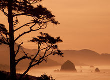 Haystack Rock at Canon Beach, Oregon Stock Photo