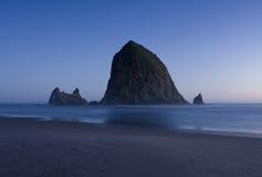 Haystack Rock At Night Royalty Free Stock Photography