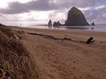 Haystack Rock in Oregon Coast Stock Images