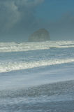 Haystack rock at Pacific City Royalty Free Stock Photography