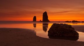 Haystack Rock Royalty Free Stock Image