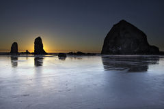 Haystack Rocks and the Needles at Cannon Beach Stock Photography