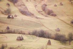 Haystack in Romania Stock Photo