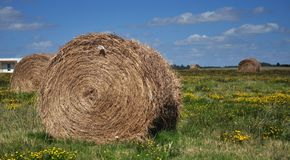 Haystack. And scenic views of nature stock image
