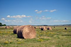 Haystack. And scenic views of nature royalty free stock photography