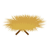 Haystack and sticks icon image Royalty Free Stock Images