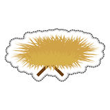 Haystack and sticks icon image Stock Images
