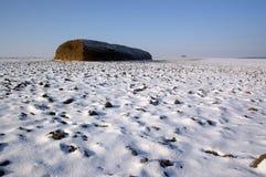 Haystack w polu Zdjęcie Royalty Free
