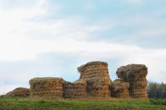 Haystacks Stock Photography