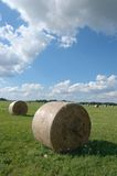 Haystacks on field Stock Photos