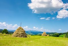 Lovely rural area in mountains Royalty Free Stock Image
