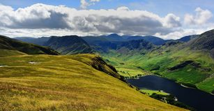Haystacks, High Crag and High Stile above Buttermere Royalty Free Stock Photos