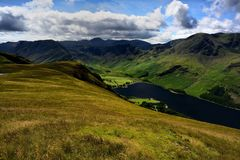 Haystacks, High Crag and High Stile above Buttermere Royalty Free Stock Photography
