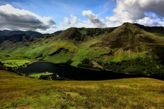 Haystacks, High Crag and High Stile above Buttermere Royalty Free Stock Images