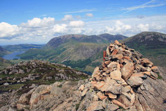 Haystacks. Summit in the Lake District Royalty Free Stock Images