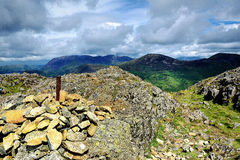 Haystacks to high Crag Royalty Free Stock Photography