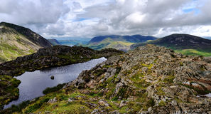 Haystacks to high Crag Royalty Free Stock Images