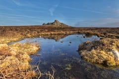 Haytor, Dartmoor Nationalpark lizenzfreies stockbild