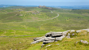 Haytor hill Dartmoor National Park Devon England UK Royalty Free Stock Images