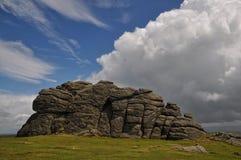Haytor Rock royaltyfria foton