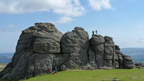 Haytor Rock Dartmoor South West England. Haytor on Dartmoor in Devon - 457 metres high and very popular with climbers and visitors to the area Stock Photography