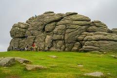 Haytor Rocks  in Dartmoor, Devon, UK Stock Photo