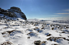 Haytor in Winter Stock Images