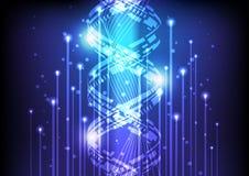 Haz abstracto de la innovación de tecnología de la luz, fondo del ejemplo del vector Imagen de archivo libre de regalías