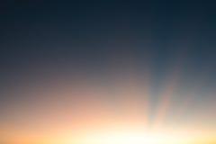 Haz de Sun como fondo Fotografía de archivo