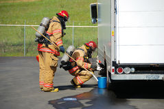 Haz Mat Entry Royalty Free Stock Photography