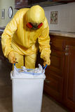 Haz Mat garbage removal Royalty Free Stock Photo