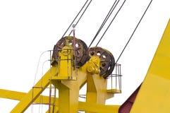 Haz superior de la grúa del puerto imagenes de archivo
