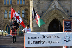 Hazara protest in Ottawa Royalty Free Stock Photo
