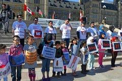Hazara protest in Ottawa Stock Image