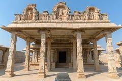 Hazara Rama temple with pillars inside, Hampi, Karnataka, India. Asia stock photo