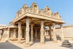 Hazara Rama temple with pillars inside, Hampi, Karnataka, India. Asia royalty free stock photos