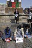 HAZARAS PROTEST AGAISNT AFGANISTAN IN DENAMRK Royalty Free Stock Image
