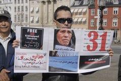 HAZARAS PROTEST AGAISNT AFGANISTAN IN DENAMRK Stock Image