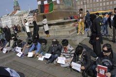 HAZARAS PROTEST AGAISNT AFGANISTAN IN DENAMRK Stock Images