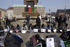 HAZARAS PROTEST AGAISNT AFGANISTAN IN DENAMRK Royalty Free Stock Photography