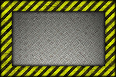 Hazard background. warning lines, black and yellow. Stock Image
