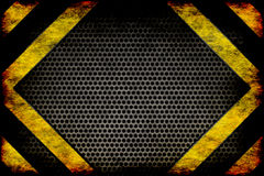 Hazard background. warning lines, black and yellow. Royalty Free Stock Photography